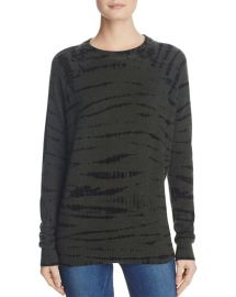 AQUA Cashmere Tie-Dye Crewneck Sweater x at Bloomingdales