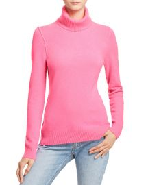 AQUA Cashmere Turtleneck Cashmere Sweater Ultra Pink at Bloomingdales