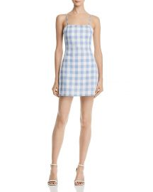AQUA Gingham Tie-Back Dress at Bloomingdales