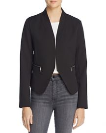 AQUA Zip Pocket Blazer Black at Bloomingdales