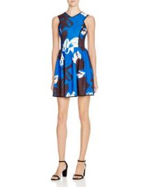 AQUA Big Floral Dress at Bloomingdales
