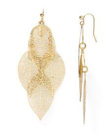 AQUA Calliope Leaf Drop Earrings at Bloomingdales