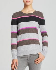 AQUA Cashmere Sweater - Multi Stripe HighLow at Bloomingdales