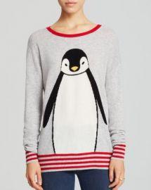 AQUA Cashmere Sweater - Penguin Intarsia at Bloomingdales