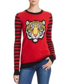 AQUA Cashmere Tiger Intarsia Sweater- 100  Exclusive at Bloomingdales