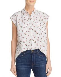 AQUA Cherry Print Shirt - 100  Exclusive  Women - Bloomingdale s at Bloomingdales