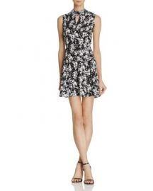 AQUA Cutout Mock Neck Floral Dress - 100  Exclusive at Bloomingdales