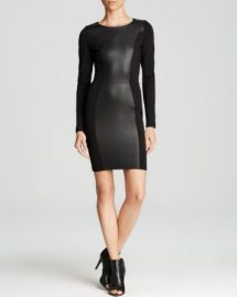 AQUA Dress - Faux Leather Bodycon at Bloomingdales