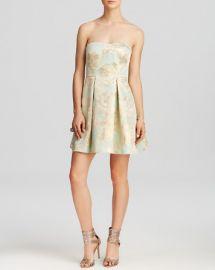 AQUA Dress - Floral Foil Print Pleated Skirt Mini at Bloomingdales