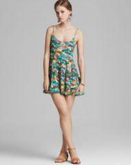 AQUA Dress - Pineapple Express Tiered Cami at Bloomingdales