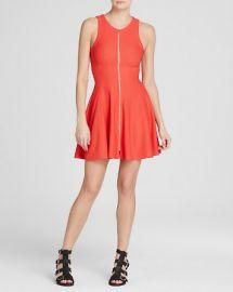AQUA Dress - Pique Zip Fit and Flare at Bloomingdales