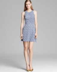 AQUA Dress - Sleeveless Cross Back Tribal Print at Bloomingdales