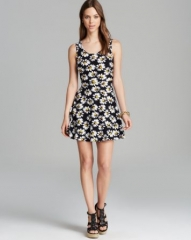 AQUA Dress - Sleeveless Daisy Skater at Bloomingdales