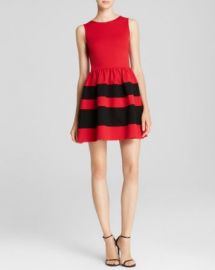 AQUA Dress - Stripe Skirt Ponte at Bloomingdales