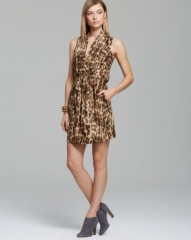 AQUA Dress - Watercolor Cheetah at Bloomingdales