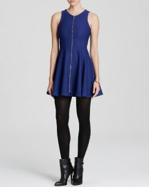AQUA Dress - Zip Front Ponte at Bloomingdales