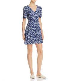 AQUA Floral Puffed-Sleeve Dress - 100  Exclusive Women - Bloomingdale s at Bloomingdales