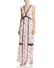 AQUA Floral V-Neck Maxi Dress - 100  Exclusive at Bloomingdales