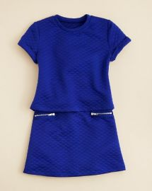 AQUA Girlsand039 Quilted Crop Top andamp A Line Skirt - Sizes S-XL at Bloomingdales