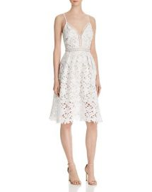 AQUA Lace Cami Empire Midi Dress - 100  Bloomingdale  039 s Exclusive in White at Bloomingdales