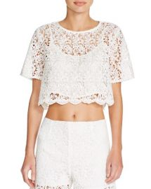 AQUA Lace Crop Top - 100 Bloomingdaleand039s Exclusive at Bloomingdales