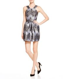 AQUA Lace Fit-and-Flare Dress at Bloomingdales