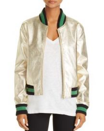 AQUA Metallic Bomber Jacket - 100  Exclusive at Bloomingdales
