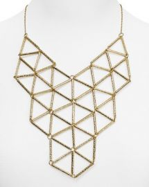 AQUA Mindy Geo Bib Necklace 16and034 at Bloomingdales