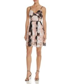 AQUA Multi Lace Empire Waist Cami Dress - 100  Exclusive at Bloomingdales