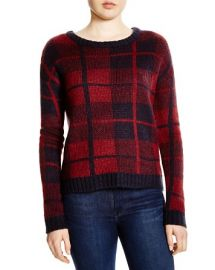 AQUA Plaid Sweater at Bloomingdales