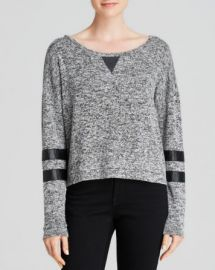 AQUA Pullover - Sporty Stripe Loose Knit at Bloomingdales