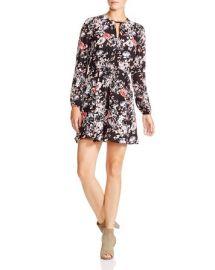 AQUA Rebecca Floral-Print Keyhole Dress at Bloomingdales
