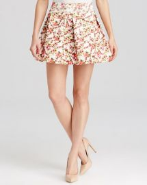 AQUA Skirt - Floral Pleated Bandage at Bloomingdales