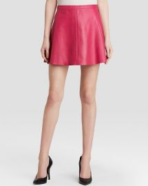AQUA Skirt - Legs Leather Skater in Pink at Bloomingdales