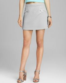 AQUA Skirt - Quilted in Grey at Bloomingdales