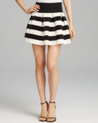 AQUA Skirt - Stripe Full at Bloomingdales