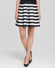 AQUA Skirt striped Pleated Scuba at Bloomingdales