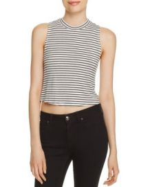 AQUA Stripe Twist Back Tank - 100  Exclusive at Bloomingdales