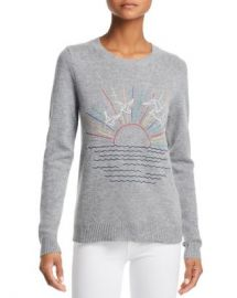 AQUA Sunset-Embroidered Cashmere Sweater - 100  Exclusive  Women - Bloomingdale s at Bloomingdales