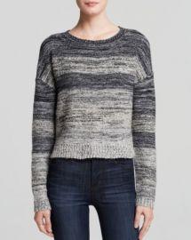 AQUA Sweater - Ombr Melange Crop at Bloomingdales
