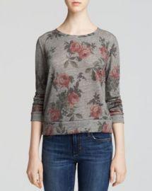 AQUA Sweatshirt - Floral at Bloomingdales