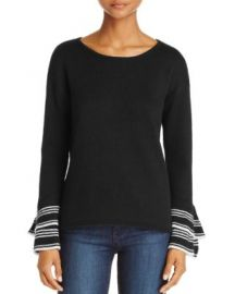 AQUA Tiered Bell Sleeve Sweater - 100  Exclusive at Bloomingdales