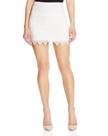 AQUA Zigzag Lace Skirt at Bloomingdales