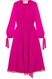 ARoss Girl x Soler   Amanda silk-georgette midi dress at Net A Porter