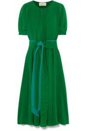ARoss Girl x Soler   Brooke belted silk crepe de chine midi dress at Net A Porter