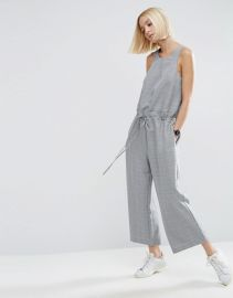 ASOS Jumpsuit in Check with Paperbag Waist at ASOS