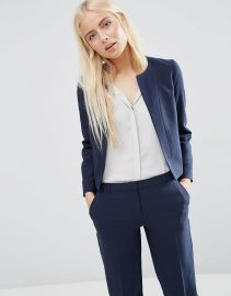 ASOS   ASOS Crop Tailored Blazer in Crepe at Asos