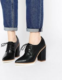 ASOS   ASOS ON A ROLL Lace Up Heeled Shoes at Asos