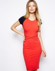 ASOS  ASOS Bodycon Dress With Twist Waist Detail at Asos