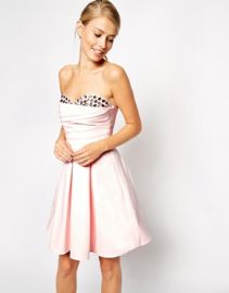 ASOS  ASOS Embellished Peekaboo Bandeau Dress at Asos